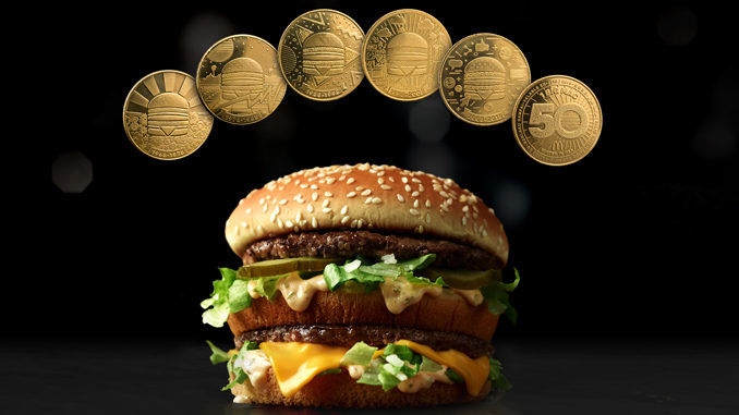 Burger-Celebrating Coin Promotions