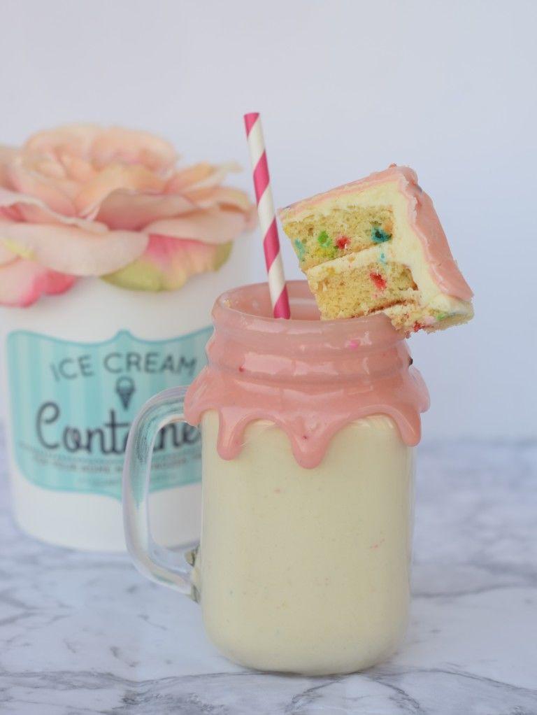 DIY Cake Batter Milkshakes