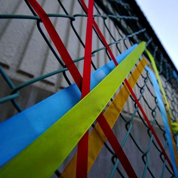 Rebellious Ribbon Graffiti