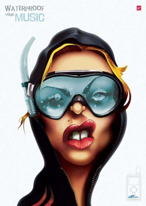 Aquatic Celebrity Illustrations