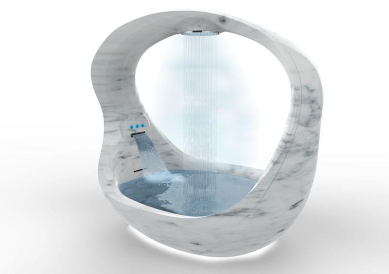 Cave-Like Marble Bathtubs