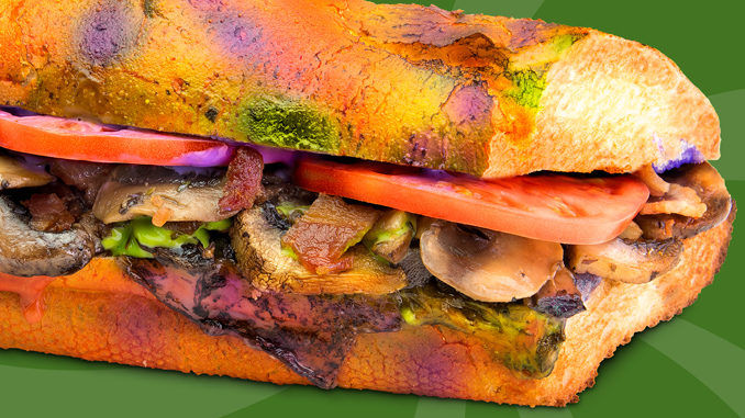 Tie-Dyed Mushroom Sandwiches