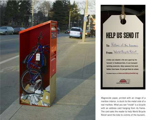 Magnetic Paper Advertised by Promoting Social Cause