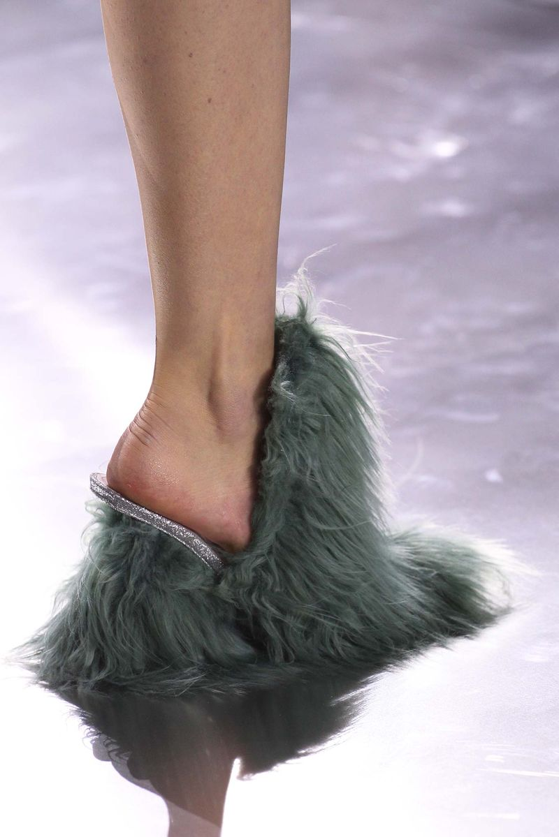 Shaggy Heeled Footwear