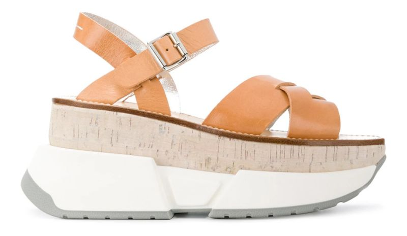 Sporty Color-Blocked Sandals