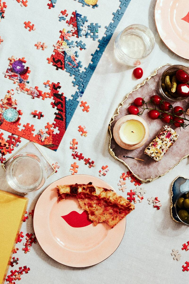 Playful French-Inspired Dessert Plates
