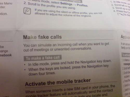 Fake-Convo Phones