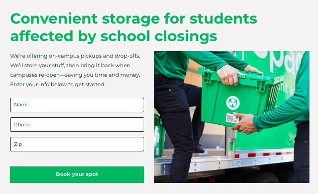 Discounted Student Storage