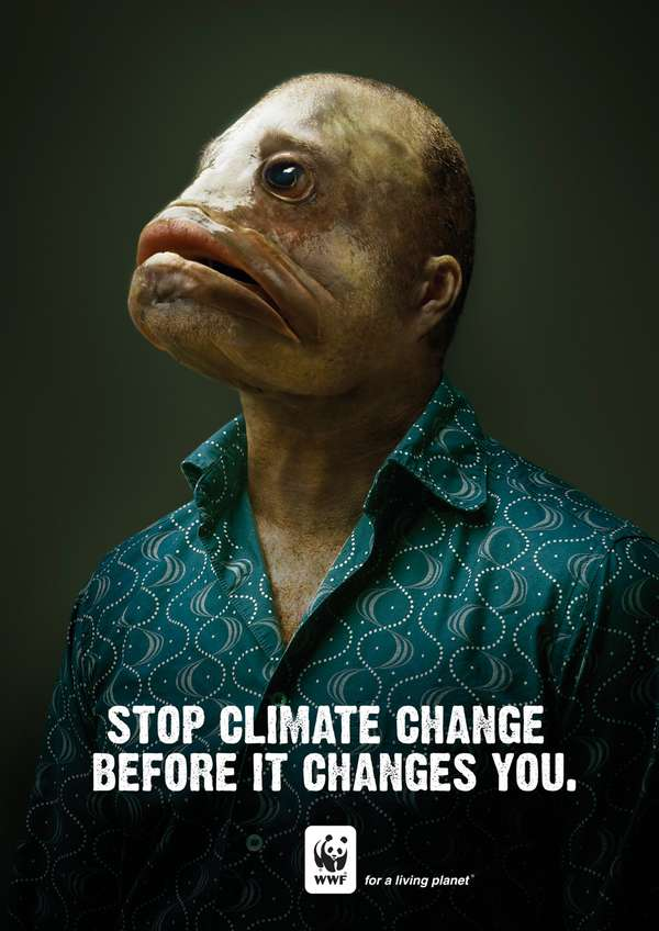 """Mutant Human Fish: """"Stop Climate Change Before it Changes ..."""