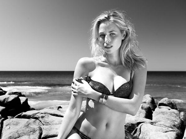 Grayscale Bikini Editorials
