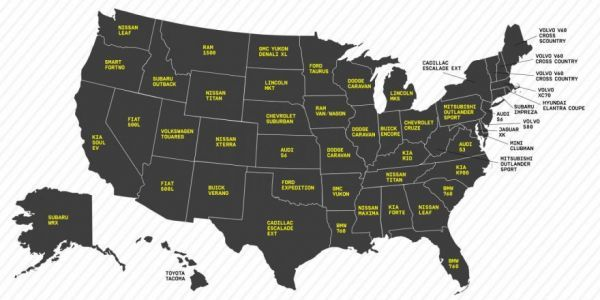Typographic Auto Popularity Maps