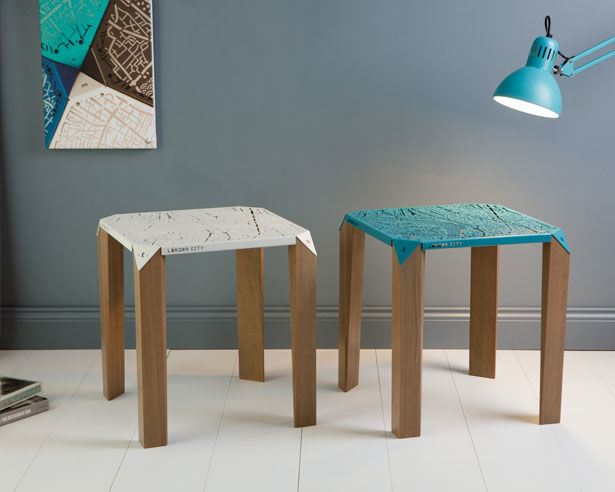 Urban-Imprinted Metal Tables