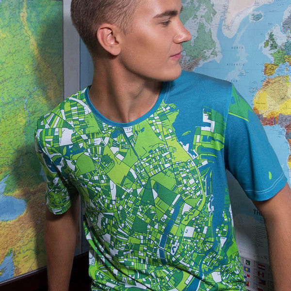 Customized Topographic T-Shirts