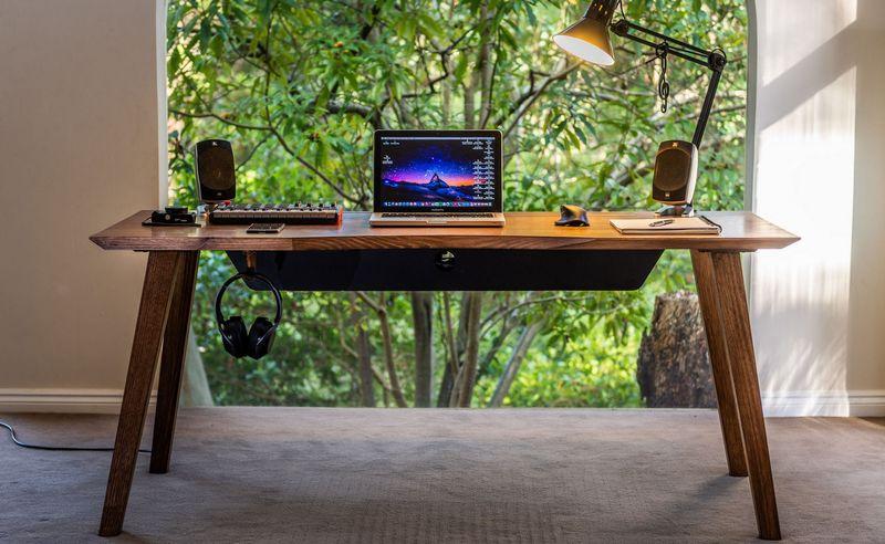 Mid-Century Cable-Concealing Desks