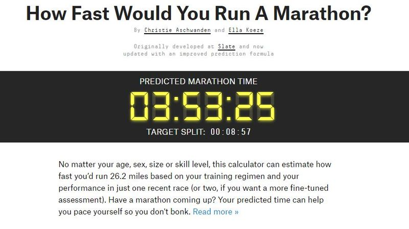 Marathon Pace Calculators