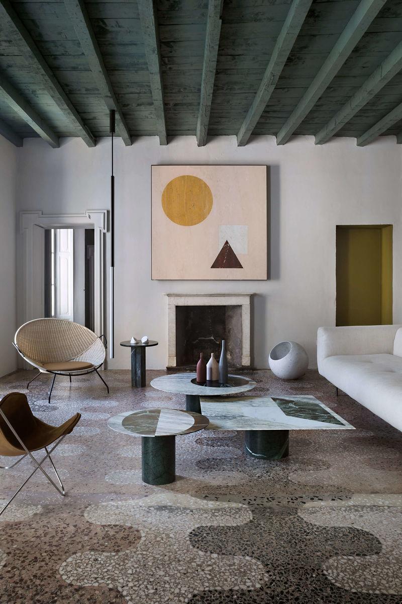 Intimate Marble Apartment Interiors