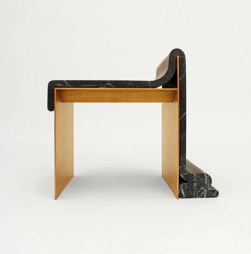 Egyptian-Inspired Marble Chairs