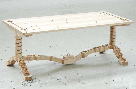 Marble Track Tables