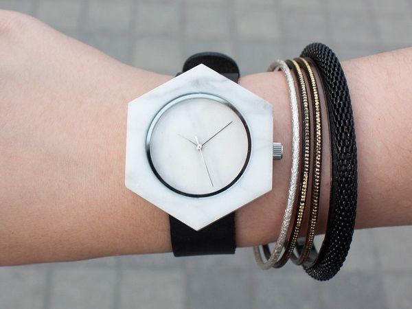 Minimalist Marble Timepieces