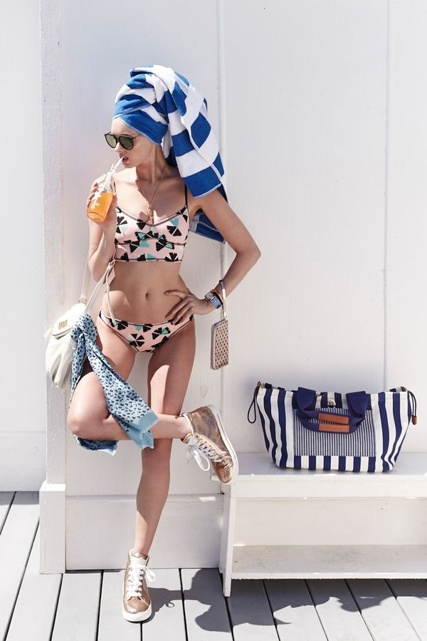Retro Poolside Lookbooks