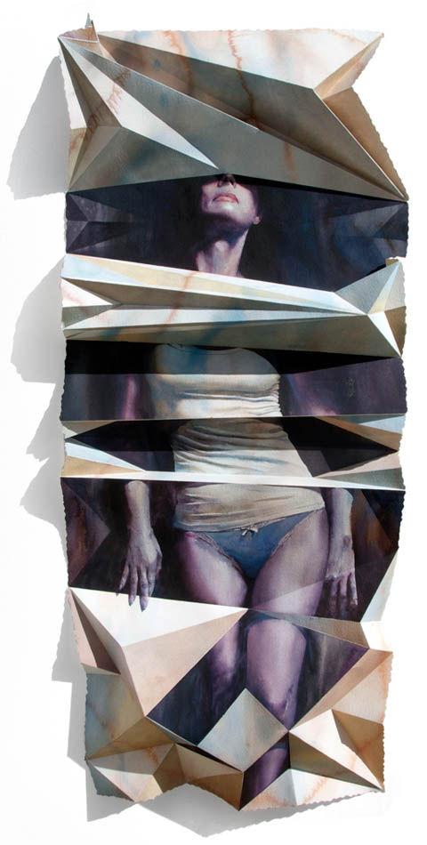 Dimensionally Folded Illustrations