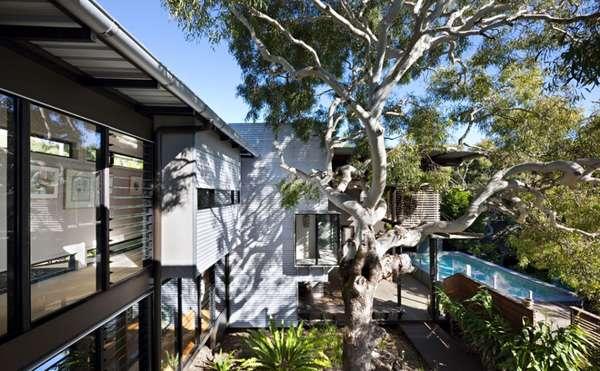 Window Blind-Inspired Housing