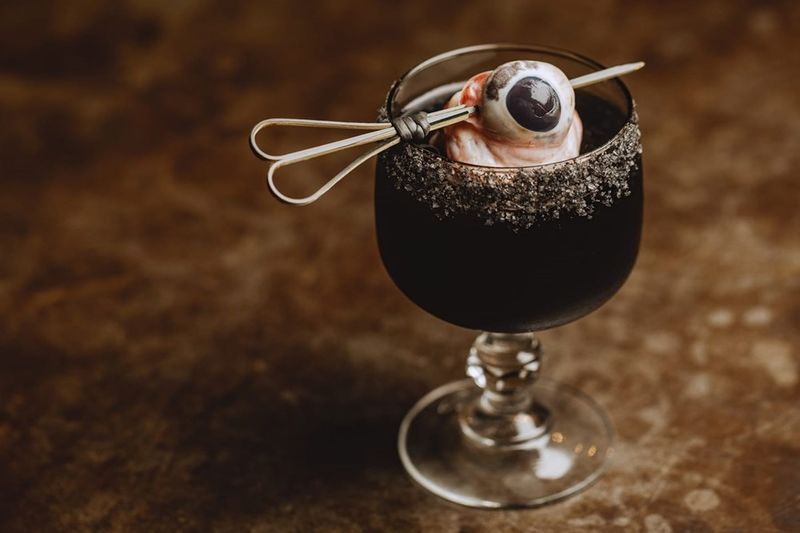 Eyeball-Garnished Cocktails