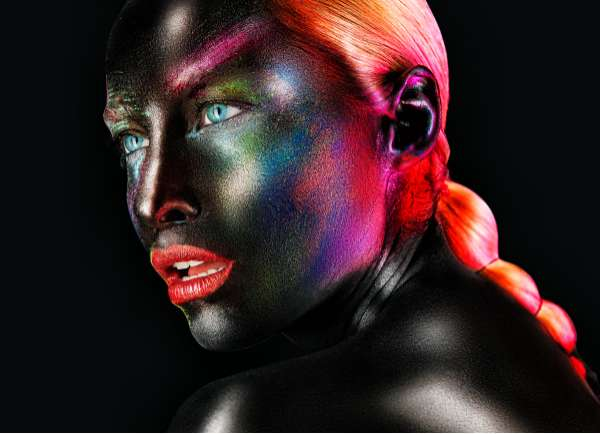 Iridescent Facepainted Portraits