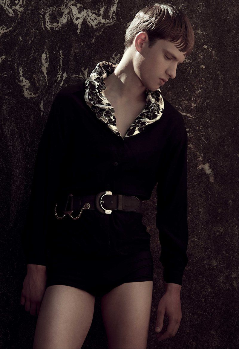 Edgy Male Bodysuits