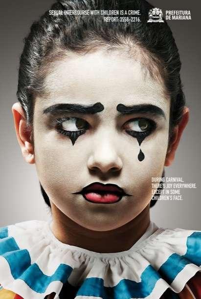 Sad Kid Clown Ads