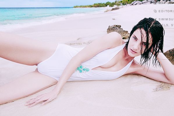 White Swimsuit Editorials