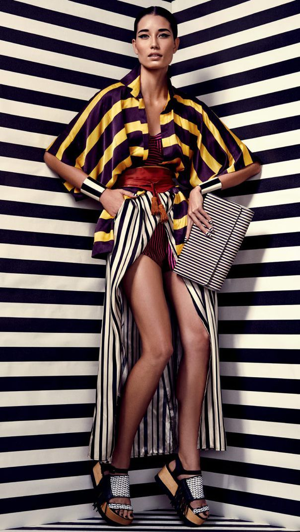 Boldly Striped Editorials
