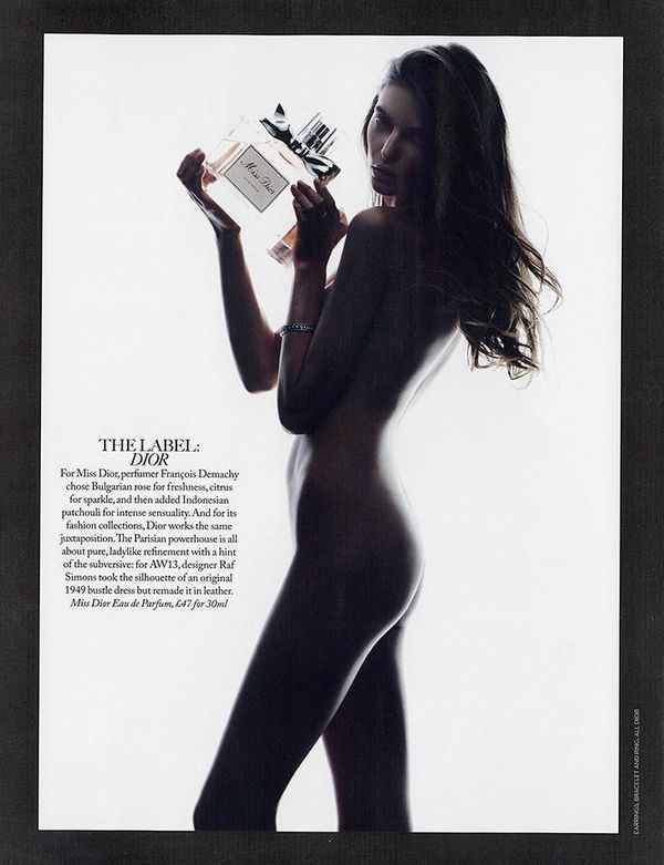 Skin-Baring Fragrance Editorials