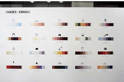 Minimalistic Color Spectrum Charts
