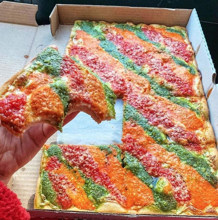 Mesmerizing Tri-Color Pizzas