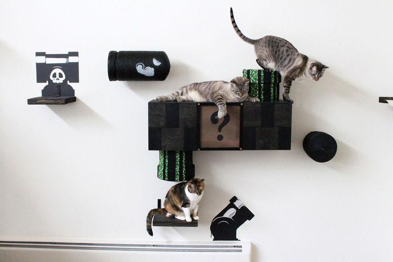 Arcade-Themed Cat Decor