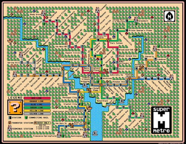Gamer Recreated Transit Maps