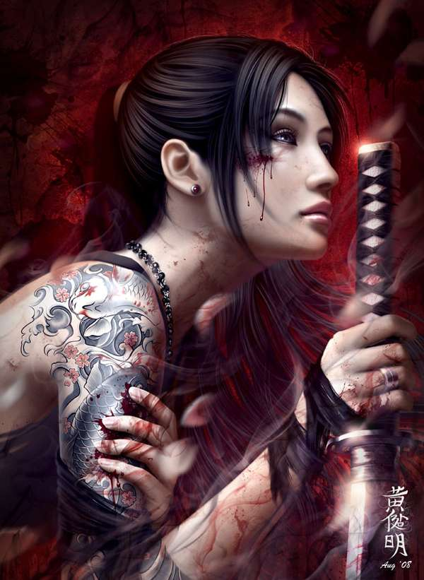 Sultry Samurai Artworks