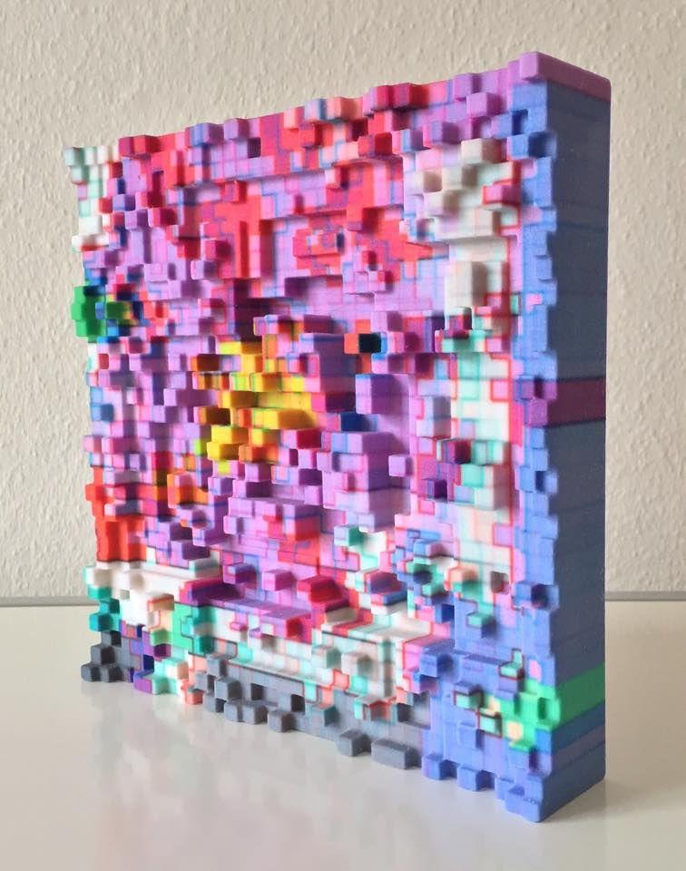 3D-Printed Pixel Art