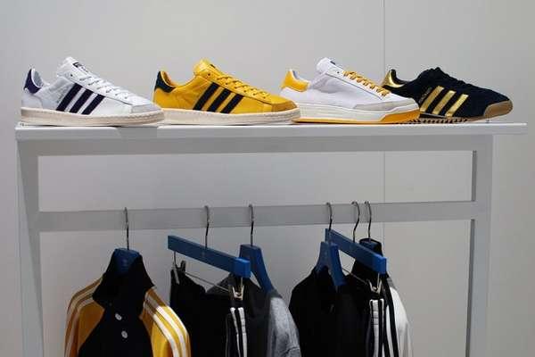 Tricolor Emblazoned Sportswear