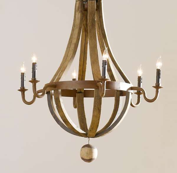 Wine Barrel Chandeliers Mark Sage Repurposes French Oak