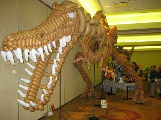 Inflatable Jurassic Sculptures