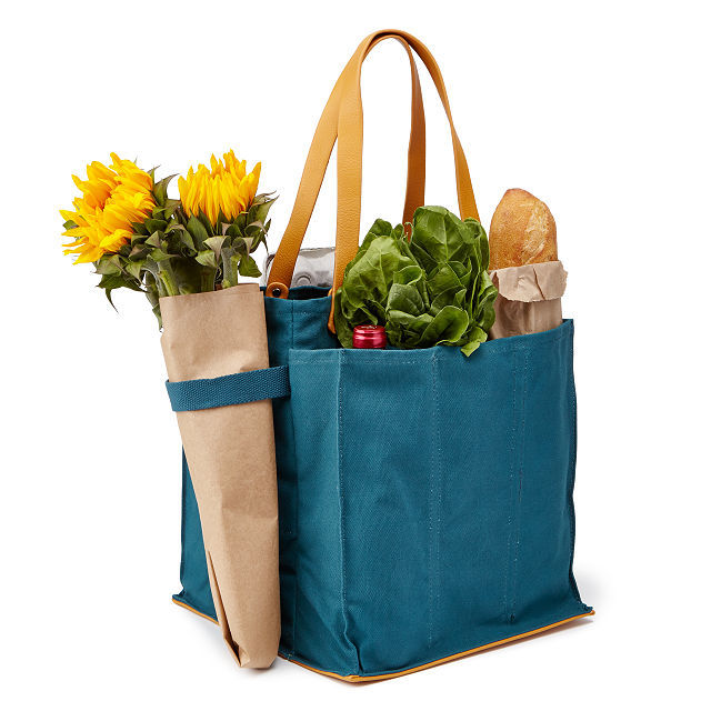 Multi-Pocketed Canvas Totes