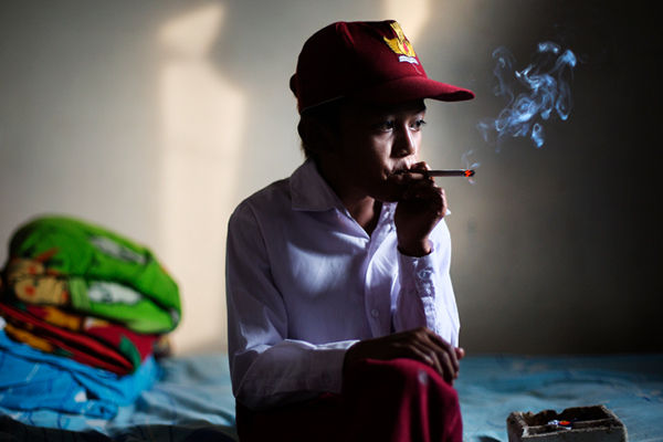 Boy Smoker Photographs