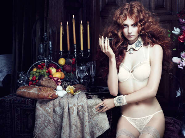 Darkly Decadent Lingerie Ads