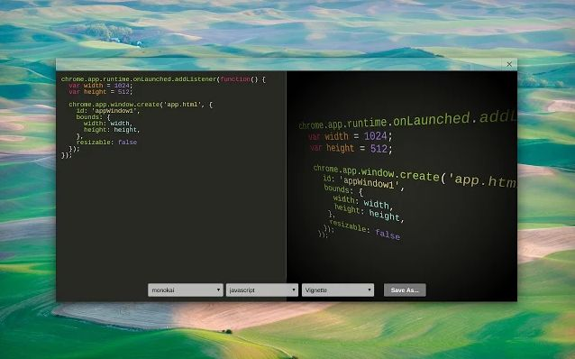 Code-Beautifying Browser Apps