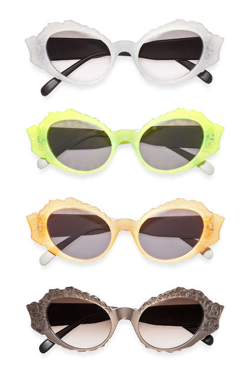 Frosted Horn-Rimmed Shades
