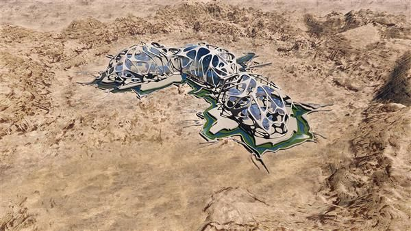 Martian Desert Colonies
