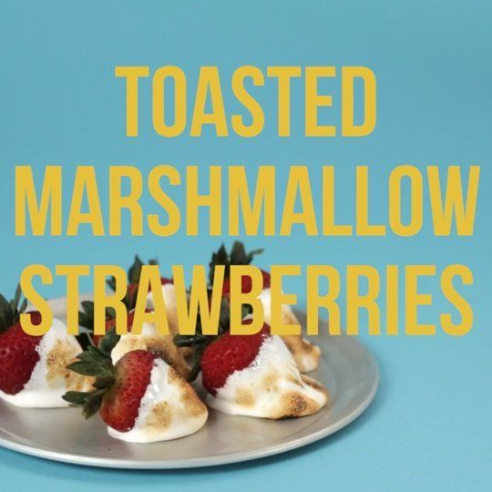 Toasted Marshmallow Strawberries