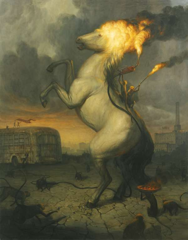 Ignited Animal Illustrations Martin Wittfooth